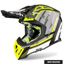 AIROH Aviator 2.3 AMS2 Glow helma 20 -  yellow/chrome