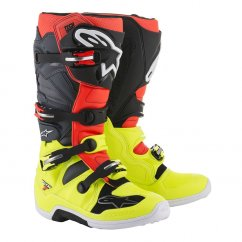 ALPINESTARS TECH 7 boty - yellow fluo/red fluo/grey/black