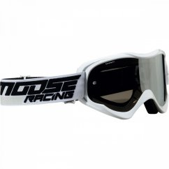 MOOSE RACING Qualifier Shade Goggles - white/smoke