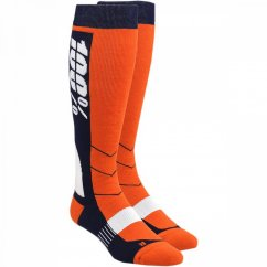 100% Hi-Side Moto Socks - orange