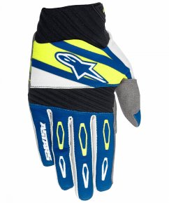 ALPINESTARS Techstar Factory Rukavice - navy/white/flo yellow