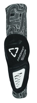 LEATT 3DF Hybrid Elbow Guard - black/white