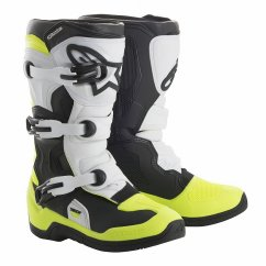 ALPINESTARS Tech 3S Youth Boot - black/white/yellow fluo