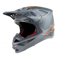 ALPINESTARS Supertech M10 Meta Helmet - anthracite/grey/orange fluo