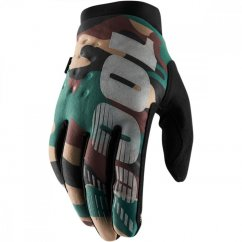 100% Brisker Gloves - camo black