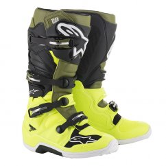 ALPINESTARS TECH 7 boty - yellow fluo/military green/black