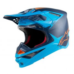 ALPINESTARS Supertech M10 Meta Helmet - black/aqua/orange fluo