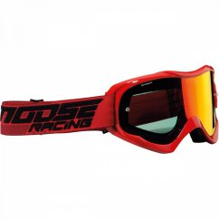 MOOSE RACING Qualifier Shade Goggles - red/smoke