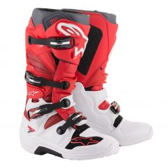 ALPINESTARS TECH 7 boty - white/red/burgundy