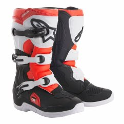 ALPINESTARS Tech 3S Youth Boot - black/white/red fluo